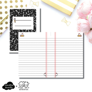 A6 Rings Size | Back to School OnceMoreWithLove Collaboration Printable Insert ©