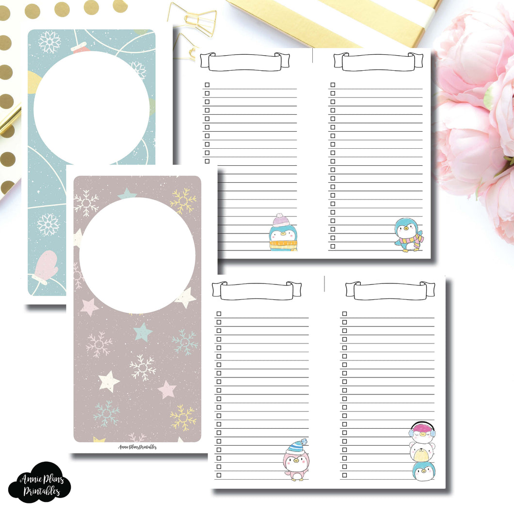Personal Wide Rings SIZE | Happie Scrappie Collaboration Lists Printable Insert ©