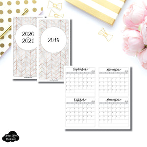 Standard TN Size | 2019 - 2021 4 Months on 2 Pages Jeshy Park Collaboration Printable Insert ©
