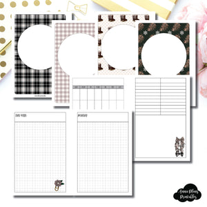 Personal Wide Rings Size | COZY Undated Daily Printable Insert ©
