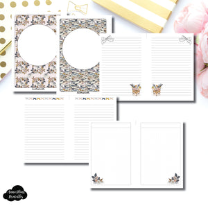 A6 Rings Size | Sweater Weather Printable Insert Bundle ©
