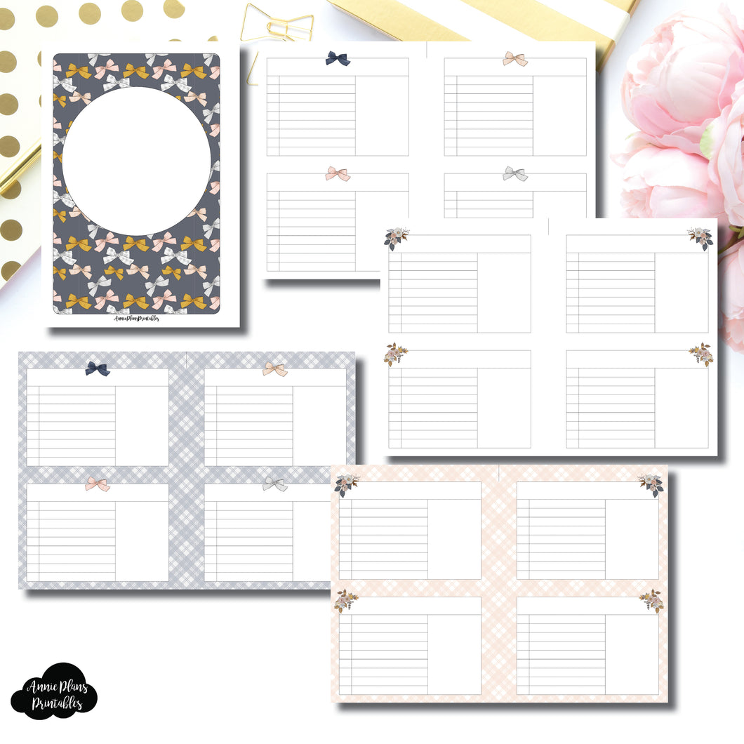 A5 Rings Size | Sweater Weather Printable Insert Bundle ©