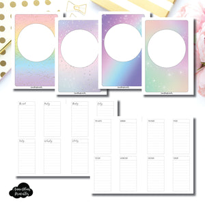 Mini HP Size | Undated Weekly Lined Vertical Printable Insert ©