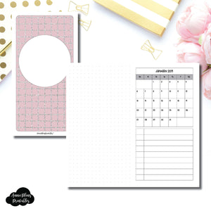 Standard TN Size | 2019 Monthly Dated Important Dates with Dot Grid Printable Insert ©