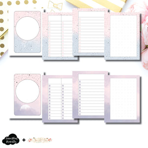 Micro HP Size | Lists & Notes TwoLilBees Collaboration Bundle Printable Inserts ©