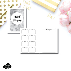 Micro HP Size | Weekly MEAL PLANNER Printable Insert ©