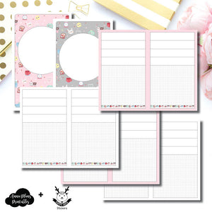 Cahier TN Size | New Weeks Horizontal Layout - HappyDaya Collaboration Printable Insert ©