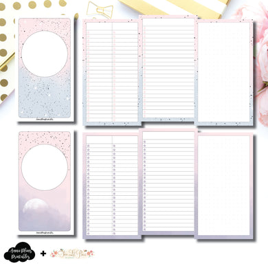 Personal TN Size | Lists & Notes TwoLilBees Collaboration Bundle Printable Inserts ©