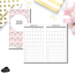 Personal TN Size | 2020 Single Page Monthly Printable Insert ©