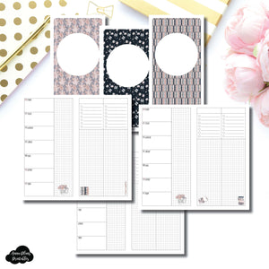 Standard TN Size | Undated Week on 2 Page Collaboration Printable Insert ©