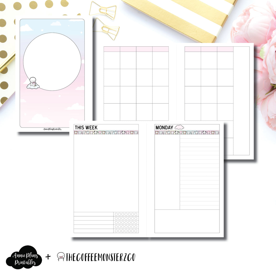 Mini HP Size | TheCoffeeMonsterzCo Undated Daily Collaboration Printable Insert ©
