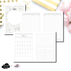 A5 Rings Size | 15 Month (OCT 2019 - DEC 2020) EllePlan Collaboration Printable Insert ©