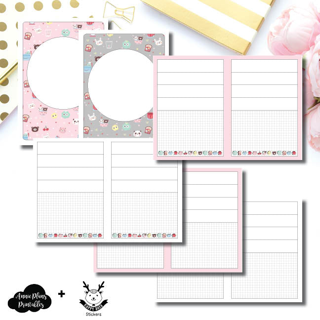 B6 TN Size | New Weeks Horizontal Layout - HappyDaya Collaboration Printable Insert ©