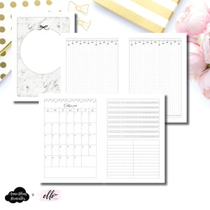 A5 Rings Size | 15 Month (OCT 2019 - DEC 2020) + Tracker EllePlan Collaboration Printable Insert ©