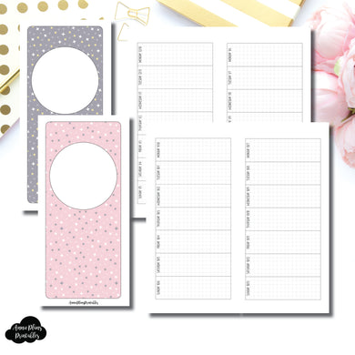 H Weeks Size | OCT 2019 - DEC 2020 Week on 1 Page Layout (Monday Start) Printable Insert ©