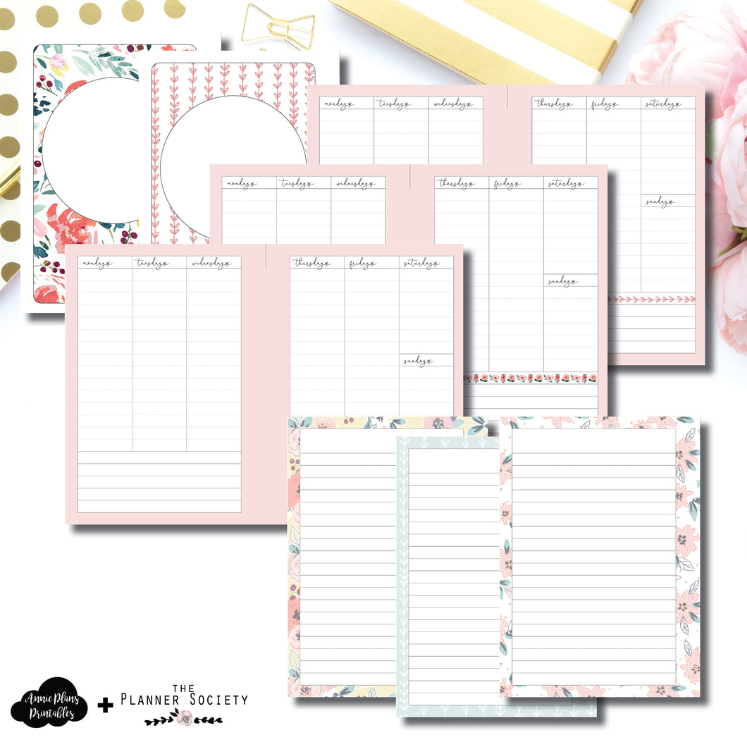A5 Rings Size | Limited Edition TPS July Collaboration Printable Inserts ©