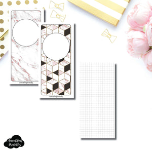H Weeks Size | Plain GRID Printable Inserts ©