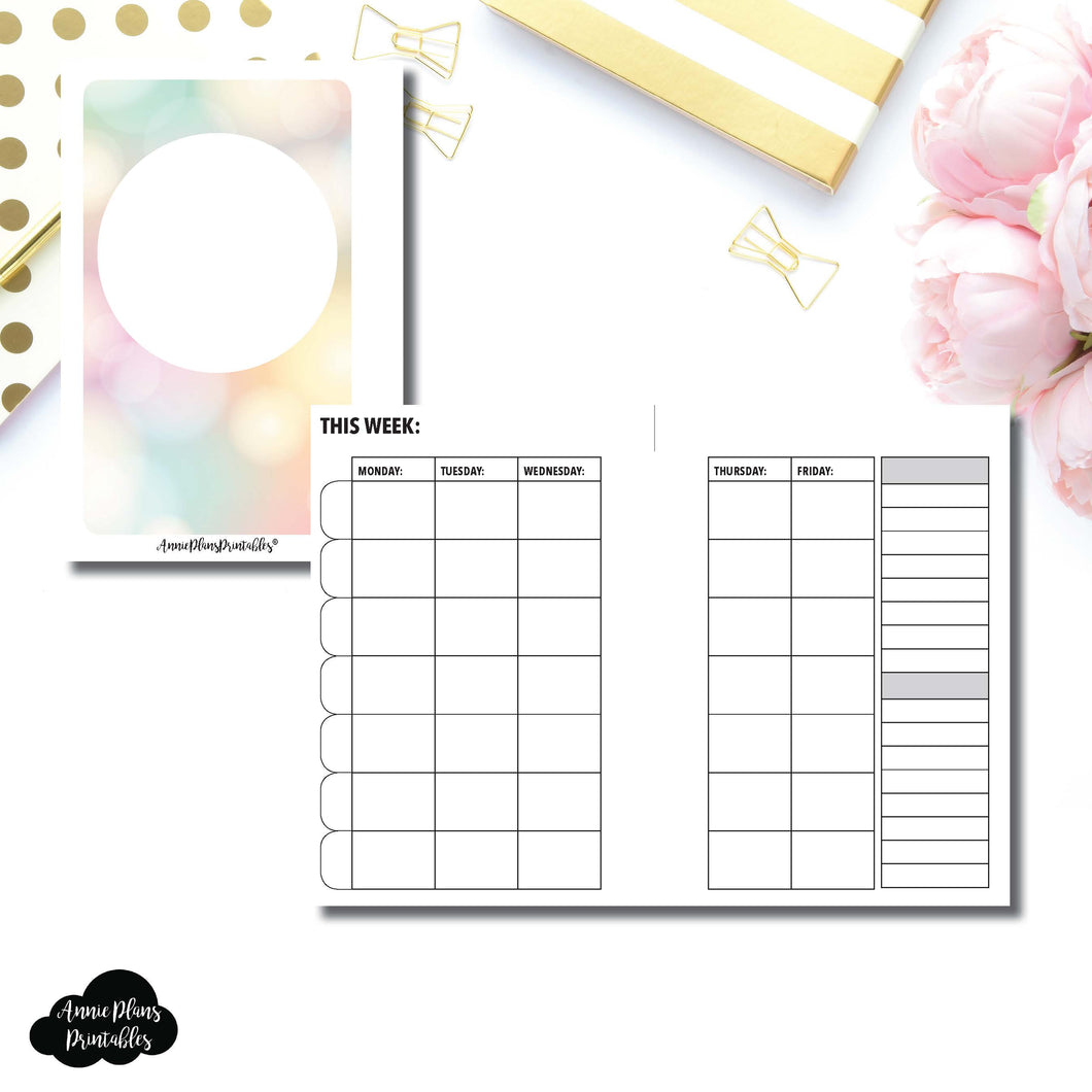 Pocket Rings Size | Lesson Planner Printable Insert ©