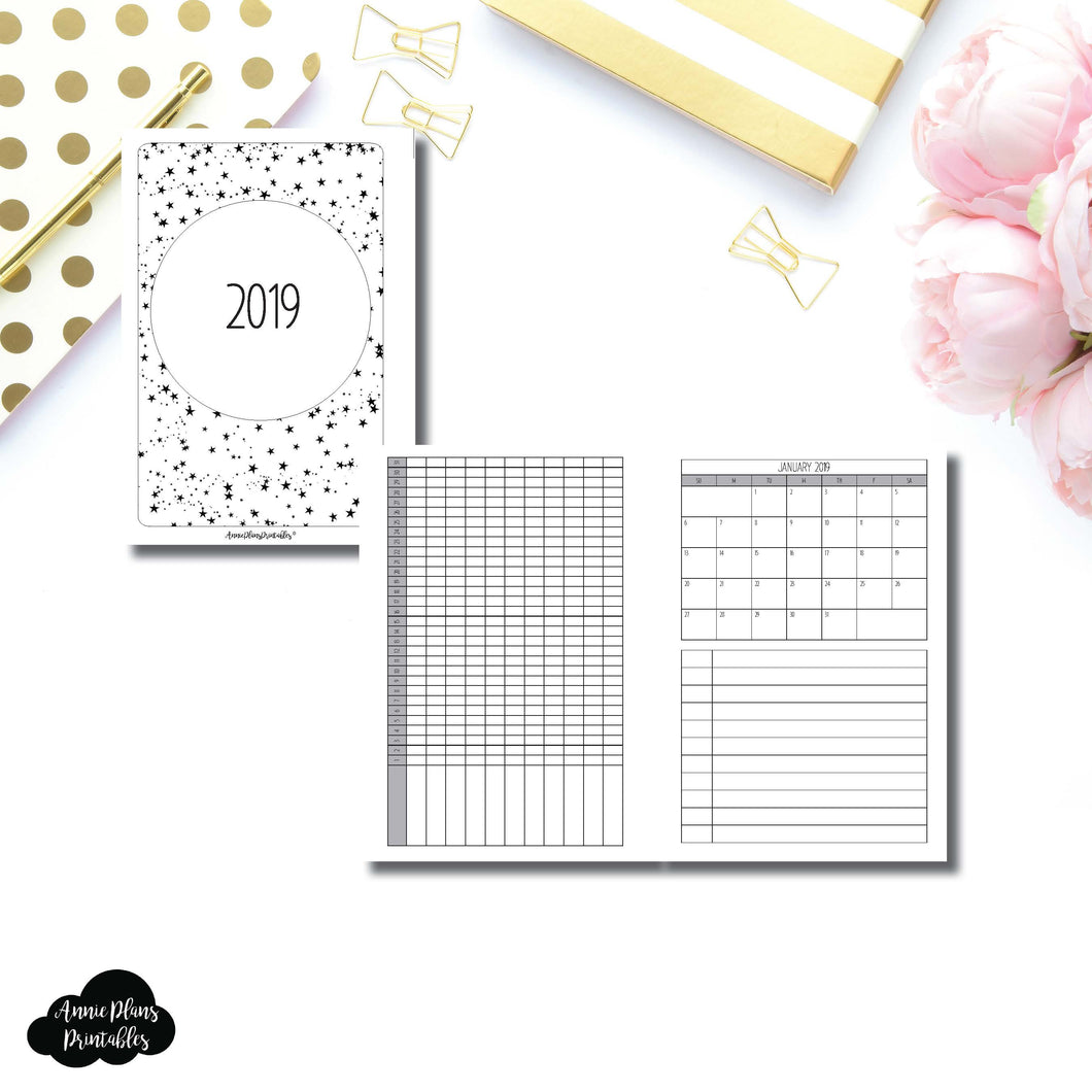 Personal Wide Rings Size | 2019 Monthly Important Dates with Tracker Printable Insert ©