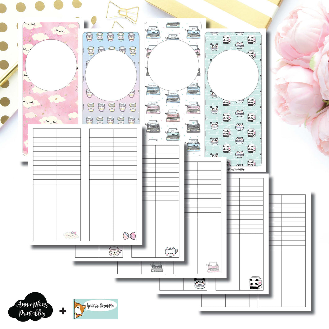 H Weeks Size | HappieScrappie Lists/Weekly Collaboration Printable Insert ©