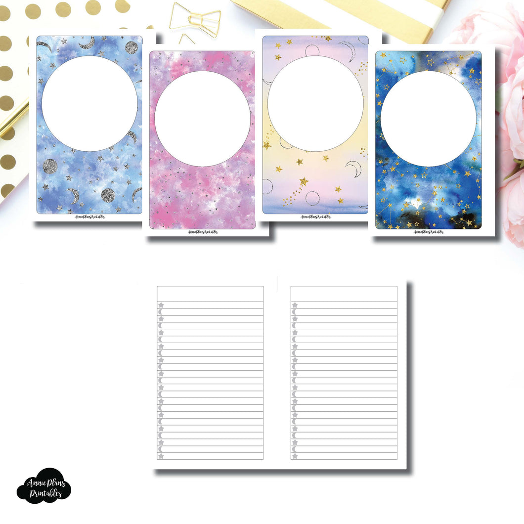 Mini HP SIZE | Blank Covers + Celestial Lists Printable Insert ©