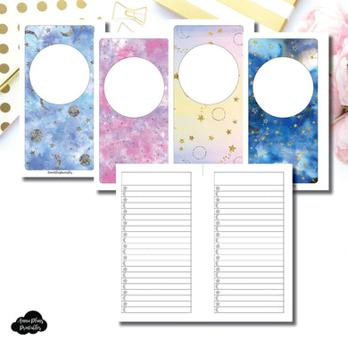 Personal Rings SIZE | Blank Covers + Celestial Lists Printable Insert ©