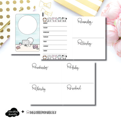 Micro HP Size | TheCoffeeMonsterzCo Collaboration Undated Week on 4 Pages Printable Insert ©