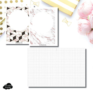 B6 Rings Size | Plain GRID Printable Inserts ©