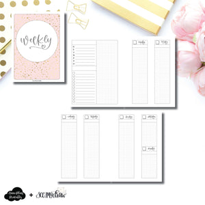 B6 Rings Size | SeeAmyDraw Undated Weekly Collaboration Printable Insert ©