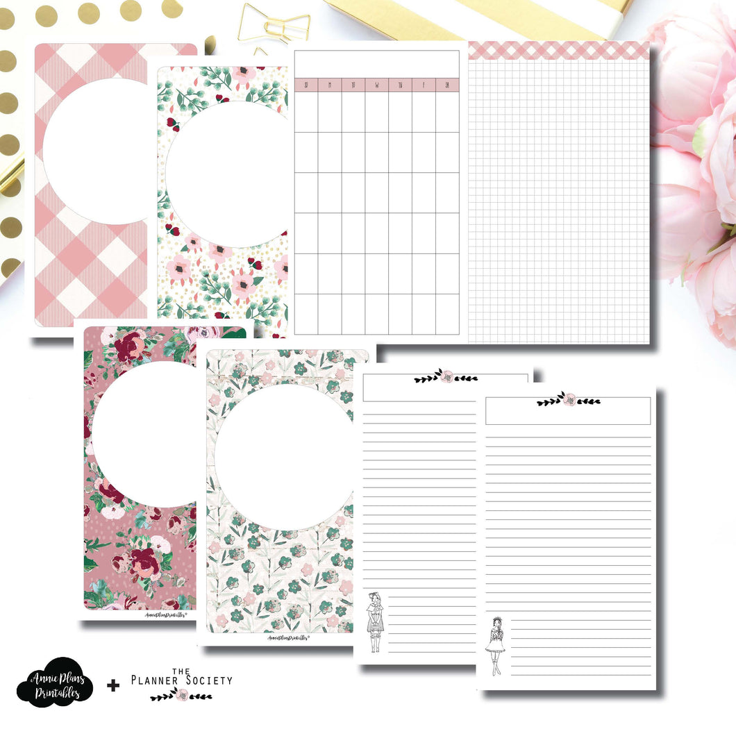 Half Letter Rings Size | Limited Edition TPS November Collaboration Bundle Printable Inserts ©