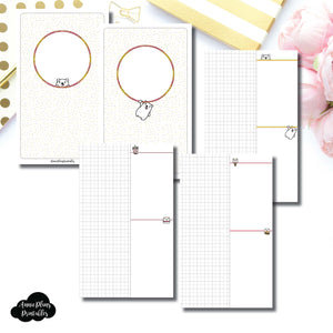 Cahier TN Size | Grin & Bear It Collaboration Grid Column Printable Insert ©