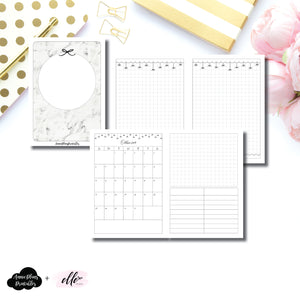 A6 TN Size | 15 Month (OCT 2019 - DEC 2020) EllePlan Collaboration Printable Insert ©