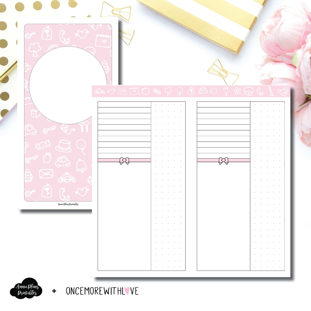 Standard TN Size | OnceMoreWithLove Anniversary Collaboration Printable Insert ©