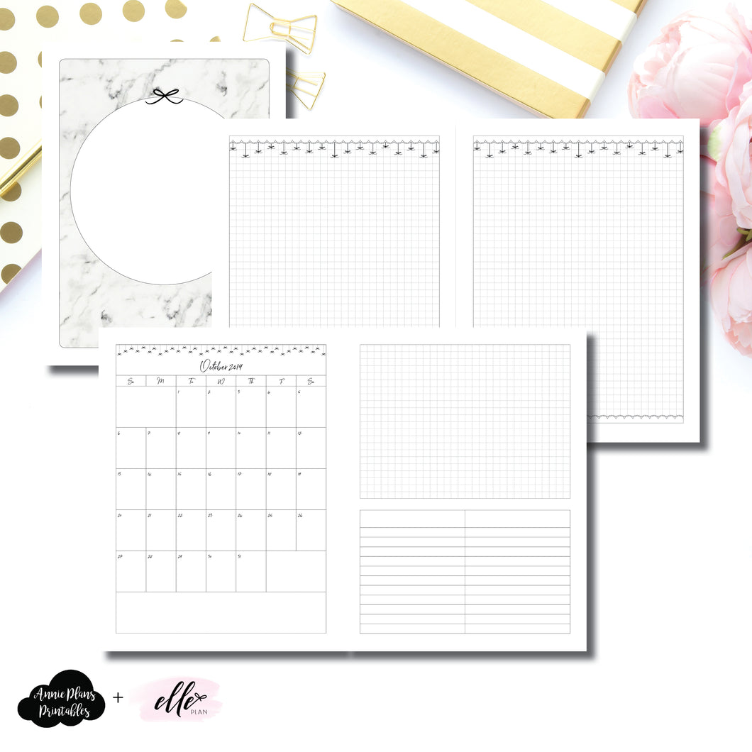 Classic HP Size | 15 Month (OCT 2019 - DEC 2020) EllePlan Collaboration Printable Insert ©