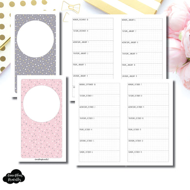 Personal TN Size | OCT 2019 - DEC 2020 Week on 1 Page Layout (Monday Start) Printable Insert ©