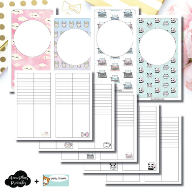 Personal TN Size | HappieScrappie Lists/Weekly Collaboration Printable Insert ©