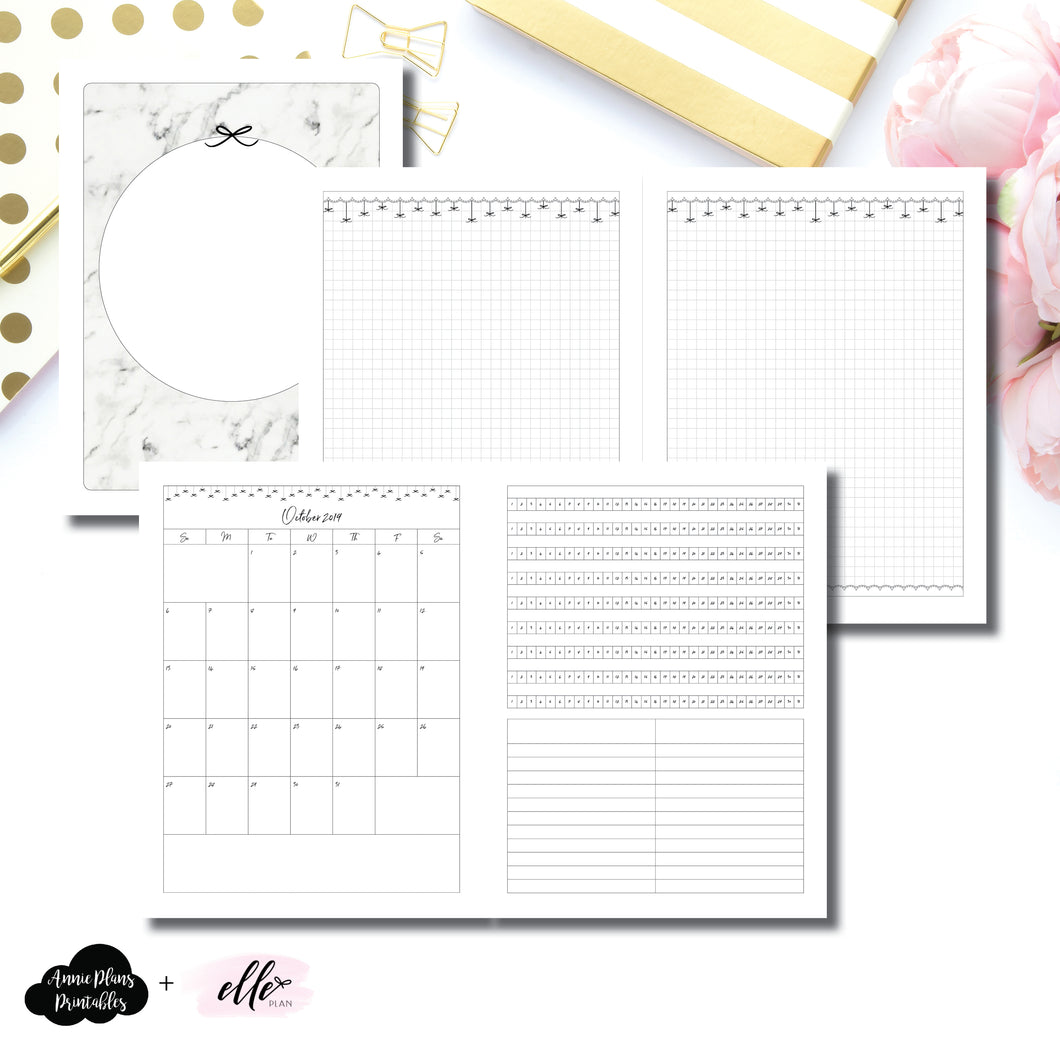 Classic HP Size | 15 Month (OCT 2019 - DEC 2020) + Tracker EllePlan Collaboration Printable Insert ©