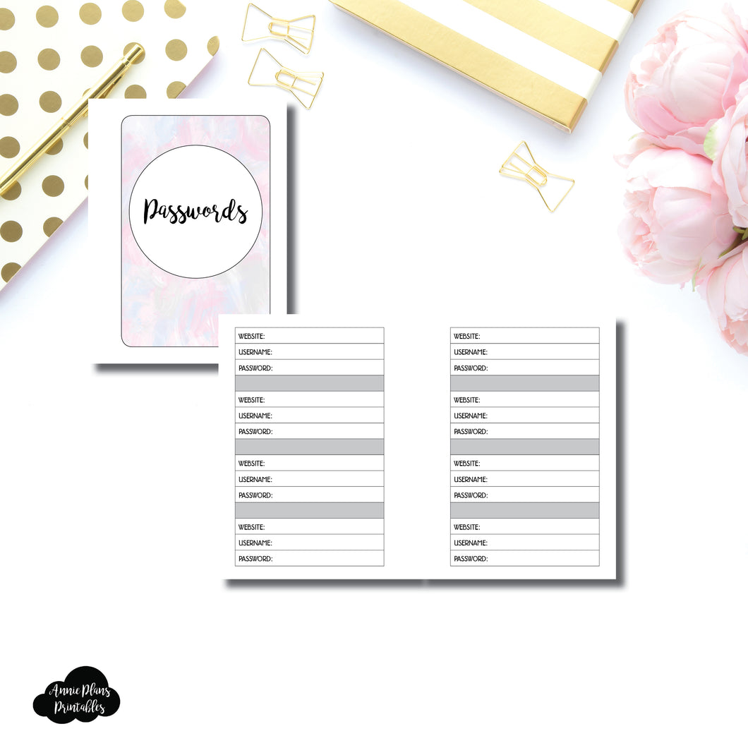 Micro HP SIZED | PASSWORD Printable Insert ©
