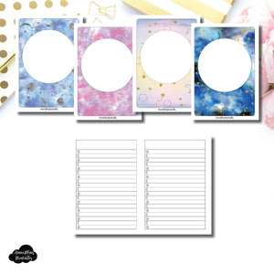 A6 TN SIZE | Blank Covers + Celestial Lists Printable Insert ©