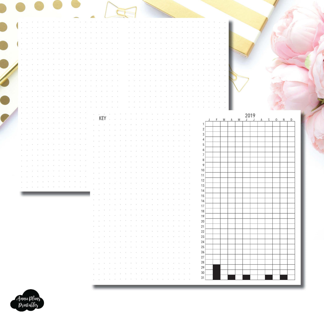 FREEBIE Cahier TN Size | 2019 Life in Pixels Printable