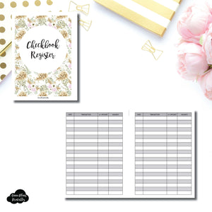B6 Rings Size | CHECKBOOK REGISTER Printable Insert ©