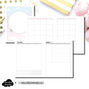 A5 Wide Rings Size | TheCoffeeMonsterzCo Undated Daily Collaboration Printable Insert ©
