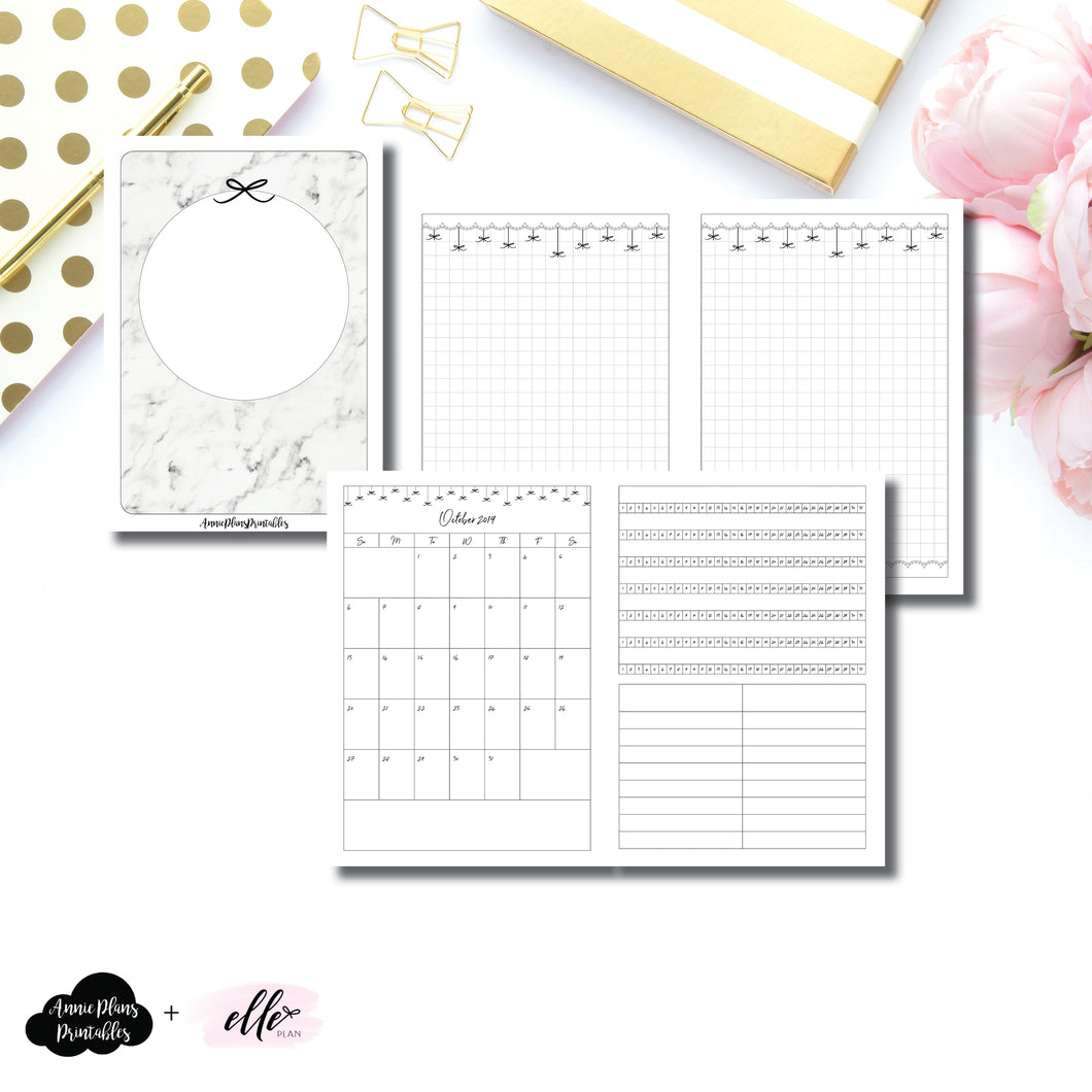A6 TN Size | 15 Month (OCT 2019 - DEC 2020) + Tracker EllePlan Collaboration Printable Insert ©