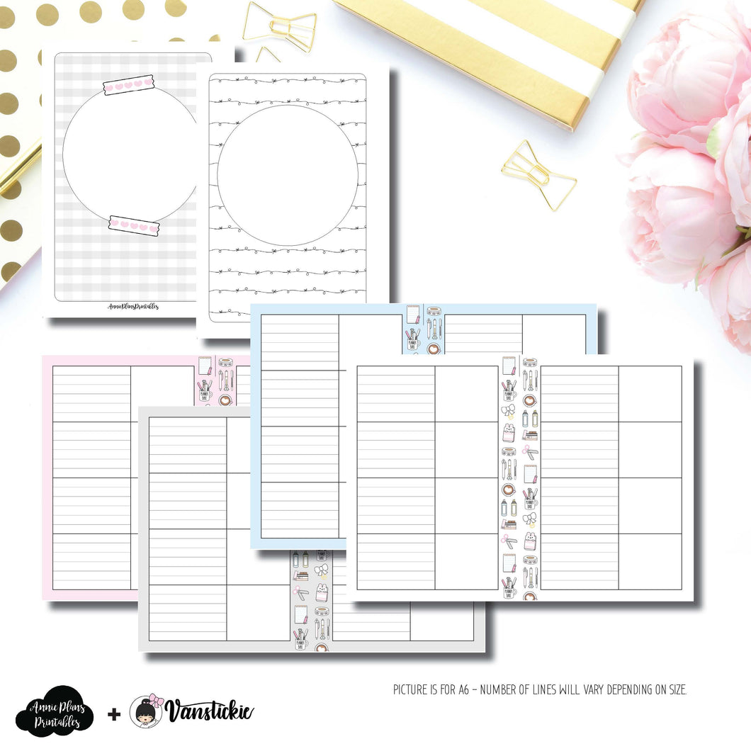 B6 Rings Size | Vanstickie Collaboration Printable Insert ©