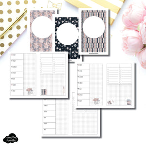 Pocket TN Size | Undated Week on 2 Page Collaboration Printable Insert ©