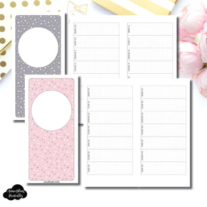 HWeeks Wide Size | OCT 2019 - DEC 2020 Week on 1 Page Layout (Monday Start) Printable Insert ©