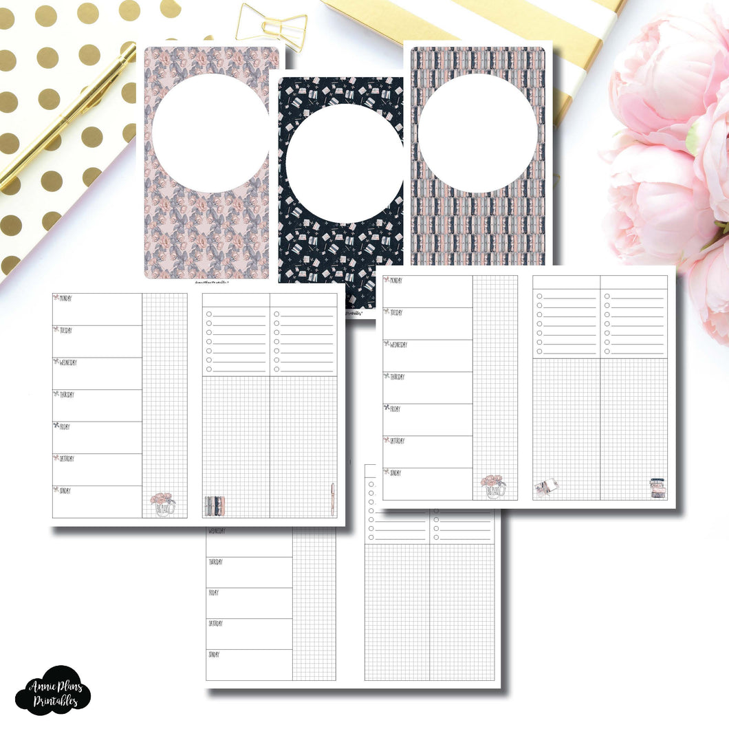 Cahier TN Size | Undated Week on 2 Page Collaboration Printable Insert ©