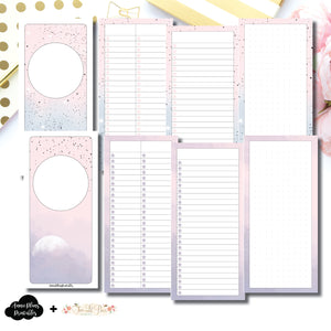 H Weeks Size | Lists & Notes TwoLilBees Collaboration Bundle Printable Inserts ©