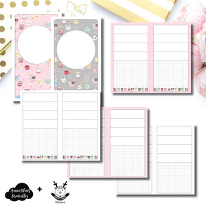Personal TN Size | New Weeks Horizontal Layout - HappyDaya Collaboration Printable Insert ©