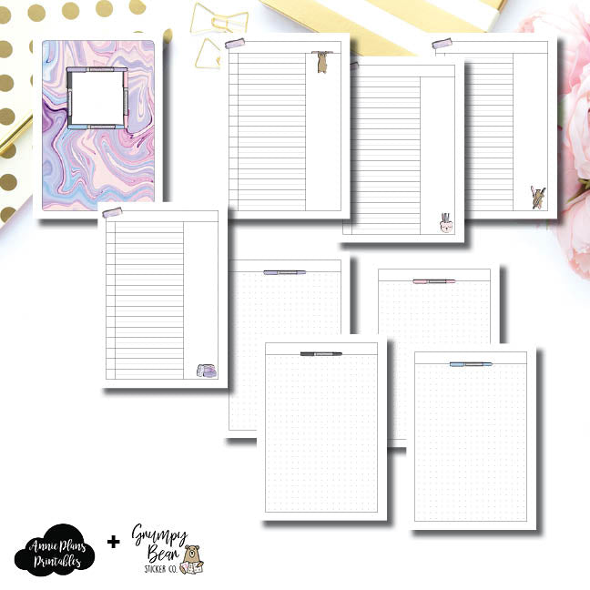 A5 Rings Size | Grumpy Bear 2.0 Collaboration Printable Insert ©
